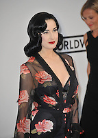 Dita Von Teese  at the 21st annual amfAR Cinema Against AIDS Gala at the Hotel du Cap d'Antibes.<br /> May 22, 2014  Antibes, France<br /> Picture: Paul Smith / Featureflash