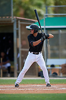 GCL Marlins Cameron Barstad (6) at bat during a Gulf Coast League game against the GCL Astros on August 8, 2019 at the Roger Dean Chevrolet Stadium Complex in Jupiter, Florida.  GCL Marlins defeated GCL Astros 5-4.  (Mike Janes/Four Seam Images)