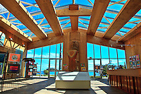 Haida Heritage Centre and Museum in Skidegate on Graham Island, Haida Gwaii, British Columbia, Canada.