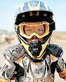USA, Tennessee, close-up of a young motorcross racer