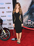 Hollywood, CA - NOVEMBER 04: Maria Menounos arrives to Marvel's  THOR: THE DARK WORLD Premiere held at El Capitan Theatre in Hollywood, California on November 04,2012                                                                               © 2013 Hollywood Press Agency