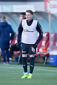 2nd February 2019, Hope CBD Stadium, Hamilton, Scotland; Ladbrokes Premiership football, Hamilton Academical versus Dundee; Scott Wright of Dundee during the warm up before the match