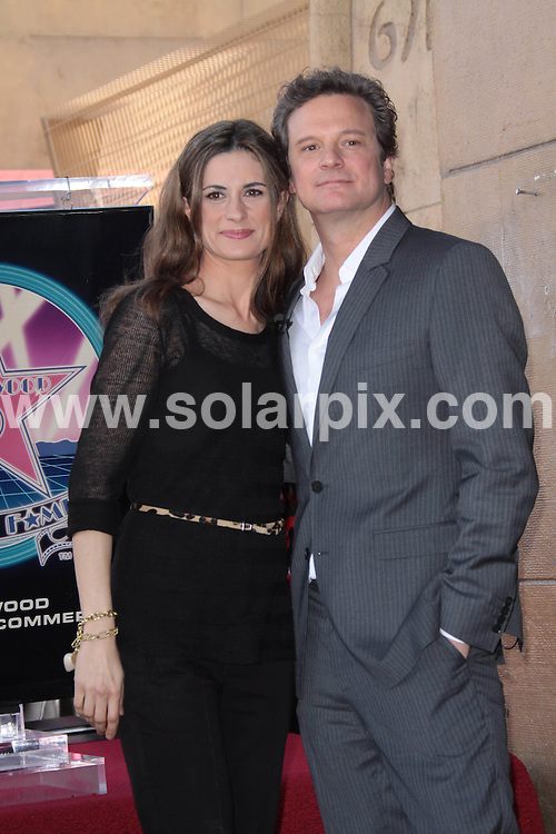 **ALL ROUND PICTURES FROM SOLARPIX.COM**                                             **SYNDICATION RIGHTS FOR UK, AUSTRALIA, DENMARK, PORTUGAL, S. AFRICA, SPAIN & DUBAI (U.A.E) & ASIA (EXCLUDING JAPAN) ONLY**                                                                                  Caption:  Colin Firth is honoured with a star on the Hollywood Walk of Fame, Hollywood Boulevard, Hollywood, USA. 13 January 2011                                                                    This pic: Colin Firth and wife Livia Giuggioli                                                                                             JOB REF: 12663 PHZ Charlotte       DATE: 13_01_2011                                                           **MUST CREDIT SOLARPIX.COM OR DOUBLE FEE WILL BE CHARGED**                                                                      **MUST AGREE FEE BEFORE ONLINE USAGE**                               **CALL US ON: +34 952 811 768 or LOW RATE FROM UK 0844 617 7637**