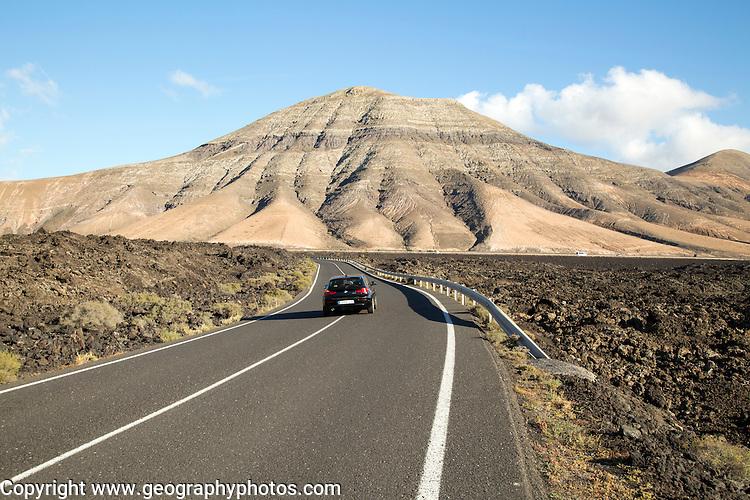 Road to Montana de Medio, mountain, Los Ajaches mountain range, Lanzarote, Canary Islands, Spain