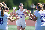 Taylor Romano (4) of the High Point Panthers during player introductions prior to the match against the Appalachian State Mountaineers at Vert Track, Soccer & Lacrosse Stadium on August 26, 2016 in High Point, North Carolina.  The Panthers defeated the Mountaineers 2-0.  (Brian Westerholt/Sports On Film)