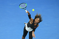 January 28, 2017: Serena Williams of United States of America in action in the Women's Final match against Venus Williams of United States of America on day 13 of the 2017 Australian Open Grand Slam tennis tournament in Melbourne, Australia. Photo Sydney Low