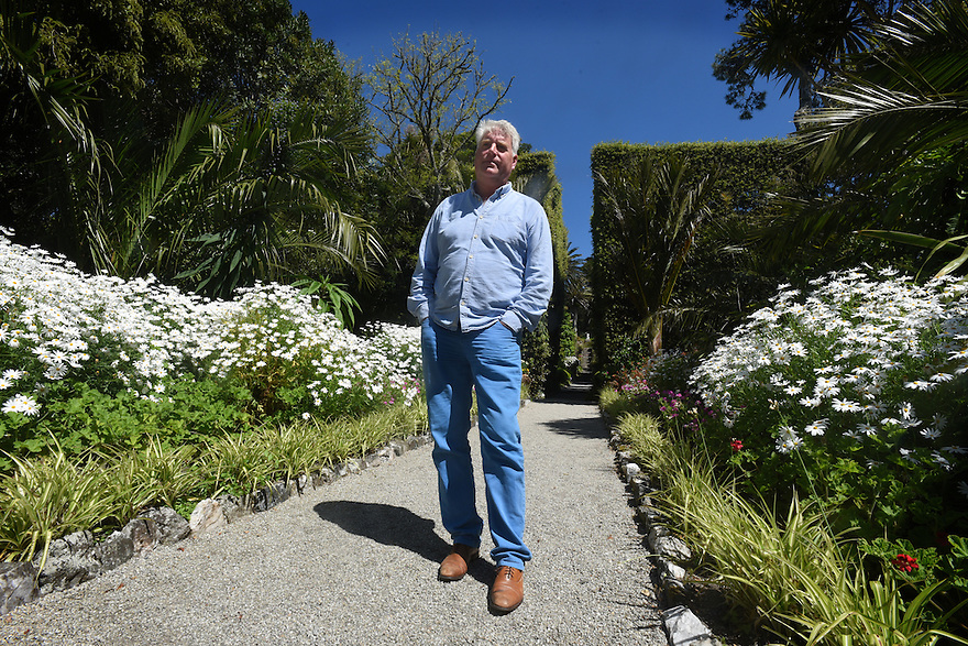 TRESCO ABBEY GARDENS, ISLES OF SCILLY. MIKE NELHAMS, CURATOR GARDNER. 20/06/2015.  PHOTOGRAPHER CLARE KENDALL.