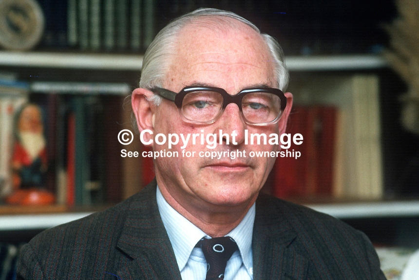 Stephen McGonigle, Londonderry, trade unionist, politician, N Ireland Ombudsman, 1974 to 1979, 197803000114b.<br />