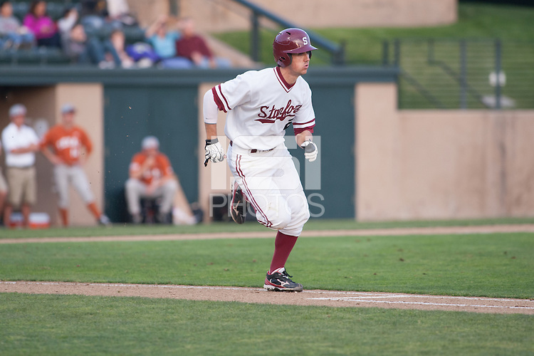 STANFORD, CA -- March 1, 2013: Danny Diekroegerduring the Stanford vs. Texas game Friday night at Klein Field at Sunken Diamond on the Stanford Campus.<br /> <br /> Stanford won 2-0.