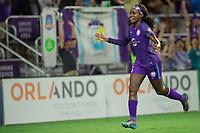 Orlando, FL - Saturday September 02, 2017: Chioma Ubogagu celebrates her goal during a regular season National Women's Soccer League (NWSL) match between the Orlando Pride and the Boston Breakers at Orlando City Stadium.