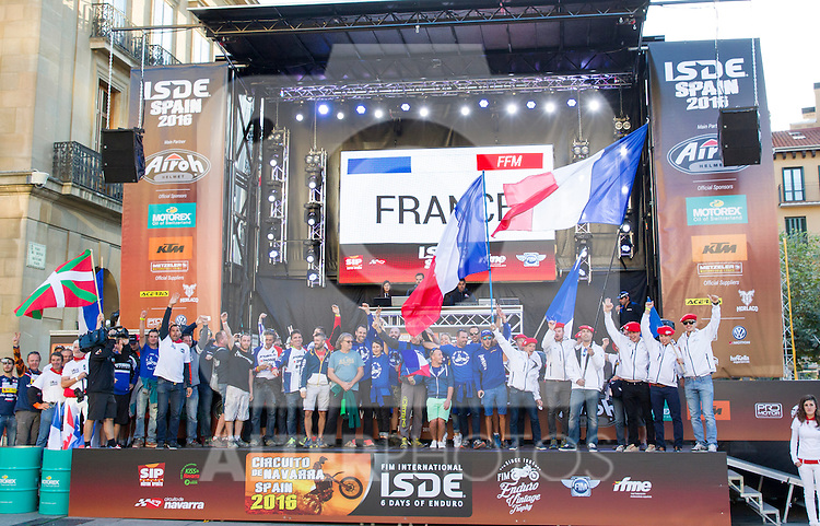 France enduro team during the presentation of the FIM international six days of enduro 2016 in Pamplona, Spain. October 09, 2016. (ALTERPHOTOS/Rodrigo Jimenez)