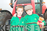 TWIN FARMERS: Twins Paddy and John Foley from Lixnaw enjoying the Kerry Harvest Fair at Tralee Mart on Sunday.