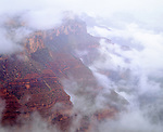 USA, Arizona, Grand Canyon National Park.   Grand Canyon in Clouds