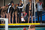 BERKELEY, CA - DECEMBER 04:  Head coach Jovan Vavic of the University of Southern California talks with his team during the Division I Men's Water Polo Championship held at the Spieker Aquatics Complex on December 04, 2016 in Berkeley, California.  Cal defeated USC 11-8 for the national title. (Photo by Justin Tafoya/NCAA Photos via Getty Images)