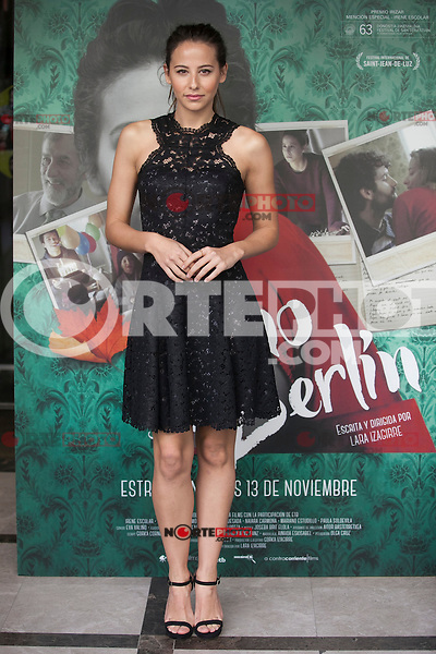 Actress Irene Escolar poses during `Un otono sin Berlin´ film presentation in Madrid, Spain. November 10, 2015. (ALTERPHOTOS/Victor Blanco)