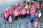 Irish Cancer Society Action Breast Cancer held a 5k walk last Saturday morning beginning at Horgans Centra, Ardfert and pictured are the large group who supported it.