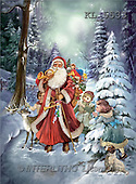 Interlitho, Patricia, CHRISTMAS SANTA, SNOWMAN, nostalgic, paintings, santa, kids, forest(KL5533,#X#) Weihnachten, nostalgisch, Navidad, nostálgico, illustrations, pinturas