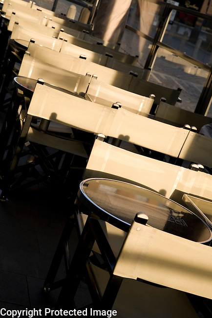 Cafe Tables, Hopland Street, Antwerp; Belgium; Europe