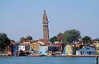 Burano bei Venedig, Venetien, Italien.