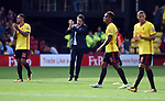 Watford Manager Marco Silva at the end of the premier league match at the Vicarage Road Stadium, Watford. Picture date 26th August 2017. Picture credit should read: Robin Parker/Sportimage