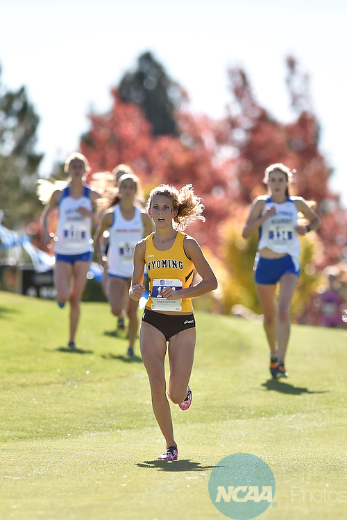 30 OCT 2015: The 2015 Mountain West Women's Cross Country Championship held at Montreux Golf Club in Reno, NV. Justin Tafoya/NCAA Photos
