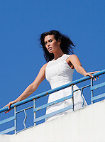 Megan Gale poses for a photoshoot during the 66th Cannes Film Festival - Cannes