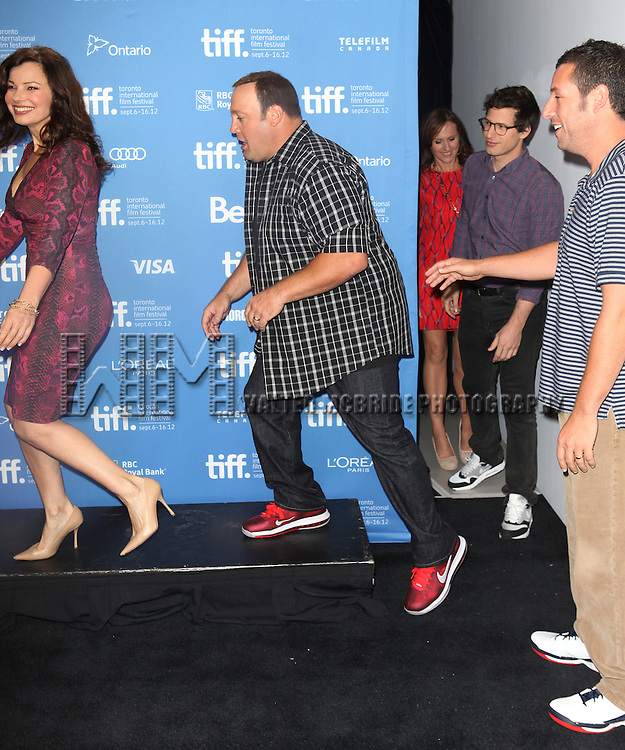 Fran Drescher, Kevin James, Adam Sandler & Andy Samberg attending the The 2012 Toronto International Film Festival.Photo Call for 'Hotel Transylvania' at the TIFF Bell Lightbox in Toronto on 9/8/2012