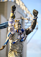 A general view of the Billy Bremner statue outside Elland Road, home of Leeds United FC<br /> <br /> Photographer Alex Dodd/CameraSport<br /> <br /> The EFL Sky Bet Championship - Leeds United v Hull City - Saturday 29th December 2018 - Elland Road - Leeds<br /> <br /> World Copyright © 2018 CameraSport. All rights reserved. 43 Linden Ave. Countesthorpe. Leicester. England. LE8 5PG - Tel: +44 (0) 116 277 4147 - admin@camerasport.com - www.camerasport.com