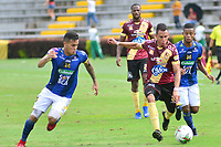 IBAGUÉ- COLOMBIA, 08-03-2019:Acción de juego entre los equipos Deportes Tolima y Alético Huila durante partido por la fecha 9 de la Liga Águila I 2019 jugado en el estadio Manuel Murillo Toro de la ciudad de Ibagué. /Action game between Deportes Tolima and Atletico Huila during the match for the date 9 of the Liga Aguila I 2019 played at the Manuel Murillo Toro stadium in Ibague city. Photo: VizzorImage / Juan Carlos Escobar / Contribuidor