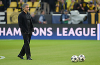 FUSSBALL  CHAMPIONS LEAGUE  HALBFINALE  HINSPIEL  2012/2013      Borussia Dortmund - Real Madrid              24.04.2013 Trainer Jose Mourinho (Real Madrid)