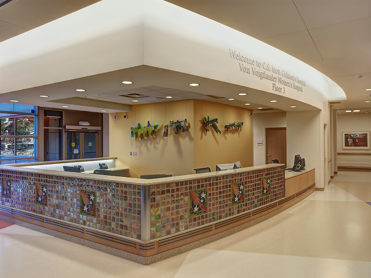 C.S. Mott Children's Hospital | Construction: Barton Malow Katie Swanson Artist Representative, Represented by Katie Swanson, Represented by Katie Swanson Artist Representative, Katie, Swanson, KS Artists Representative, award winning architectural photographer