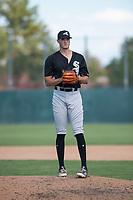 Chicago White Sox relief pitcher Lane Ramsey (44) gets ready to deliver a pitch during an Instructional League game against the Oakland Athletics at Lew Wolff Training Complex on October 5, 2018 in Mesa, Arizona. (Zachary Lucy/Four Seam Images)