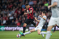 Ander Herrera of Man Utd tackles Joshua King of AFC Bournemouth during the Premier League match between Bournemouth and Manchester United at the Goldsands Stadium, Bournemouth, England on 18 April 2018. Photo by Andy Rowland.