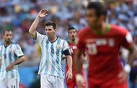 FUSSBALL WM 2014  VORRUNDE    GRUPPE F     Argentinien - Iran                         21.06.2014 Lionel Messi (li, Argentinien)