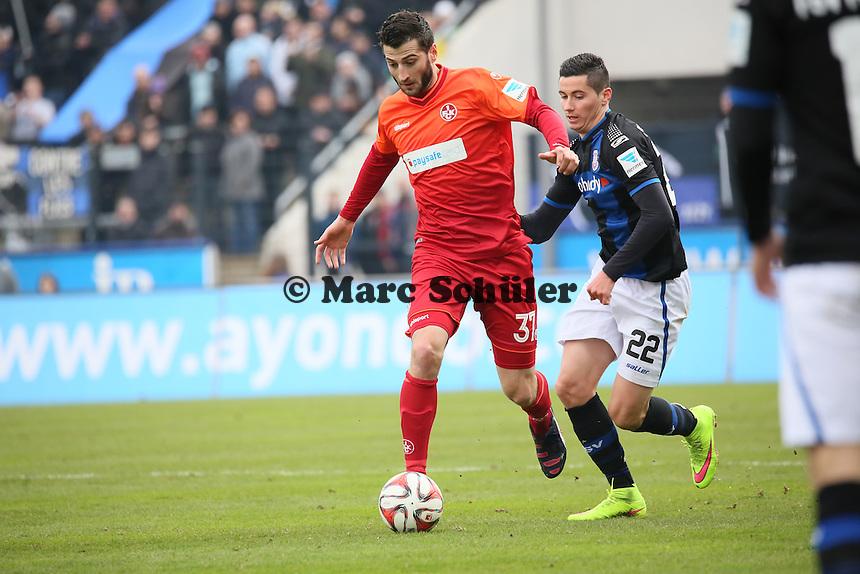 Dominique Heintz (FCK) gegen Odise Roshi (FSV) - FSV Frankfurt vs. 1. FC Kaiserslautern, Frankfurter Volksbank Stadion