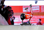 17 December 2010: Mellisa Hollingsworth slides for Canada, finishing 5th for the day at the Viessmann FIBT Skeleton World Cup Championships in Lake Placid, New York, USA. Mandatory Credit: Ed Wolfstein Photo