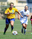 BROOKINGS, SD - AUGUST  22: Nicole Hatcher #10 from South Dakota State University controls the ball in front of Taylor Howe #14 from Green Bay in the second half of their game Sunday afternoon at Fischback Soccer Field in Brookings. (Photo by Dave Eggen/Inertia)