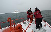 Job completed. Leaving Märket lighthouse, returning to Eckerö, Åland in pilot boat.