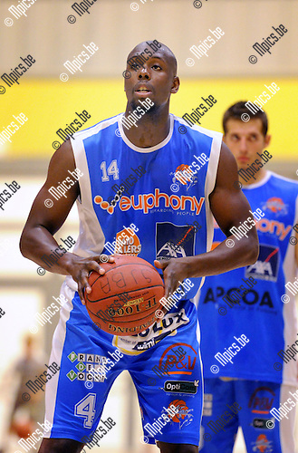 2013-09-10 / Basketbal / seizoen 2013-2014 / Kangoeroes Willebroek / Deshawn Painter<br /> <br /> Foto: Mpics.be