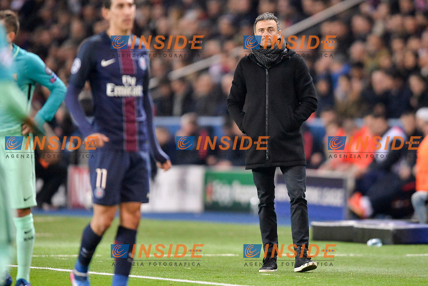 Luis Enrique ((ENTRAINEUR BARCELONE)<br /> Parigi 14-02-2017 Parco dei Principi <br /> Paris Saint Germain - Barcellona Champions League 2016/2017 <br /> Foto Anthony BIBARD / FEP / Panoramic / Insidefoto