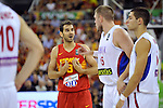 Spain's CALDERON, Jose during 2014 FIBA Basketball World Cup Group Phase-Group A, match Serbia vs Spain. Palacio  Deportes of Granada. September 4,2014. (ALTERPHOTOS/Raul Perez)