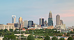 This is the most recent and current Charlotte skyline photo that I have taken in 2012. Charlotte NC has a great skyline, that makes for a great photo. From just about any side of town Charlotte has a great profile.  <br />
