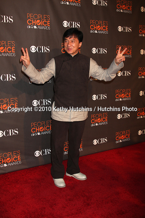 Jackie Chan.arriving  at the 2010 People's Choice Awards.Nokia Theater.January 6, 2010.©2010 Kathy Hutchins / Hutchins Photo.
