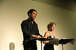 """A Night at the Theater benefiting The Apothecary Theatre Company starring Guiding Light's Tom Pelphrey and Stephanie Gatschet (AMC) who will read two one-act plays - """"Fair Rosamund & Her Murderer"""", a grownup fairy tale of forbidden love & """"Post-Its: Note on a Marriage"""", a history of a couple's attempt to stay in touch no matter how they stray - with a cocktail reception following at Cathy O'Clarke's Irish Pub. (Photo by Sue Coflin/Max Photos)"""