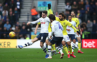 Blackburn Rovers' Bradley Dack  and Preston North End's Ben Pearson, Preston North End's Alan Browne<br /> <br /> Photographer Rachel Holborn/CameraSport<br /> <br /> The EFL Sky Bet Championship - Preston North End v Blackburn Rovers - Saturday 24th November 2018 - Deepdale Stadium - Preston<br /> <br /> World Copyright © 2018 CameraSport. All rights reserved. 43 Linden Ave. Countesthorpe. Leicester. England. LE8 5PG - Tel: +44 (0) 116 277 4147 - admin@camerasport.com - www.camerasport.com