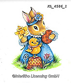 EASTER, OSTERN, PASCUA, paintings+++++,KL4586/1,#e#, EVERYDAY ,rabbit,rabbits ,sticker,stickers,
