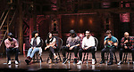 "Deon'te Goodman, Jennie Harney-Fleming, Lauren Boyd, Anthony Lee Medina, Giuseppe Bausilio, Thayne Jasperson and Terrance Spencer during the eduHAM Q & A before The Rockefeller Foundation and The Gilder Lehrman Institute of American History sponsored High School student #EduHam matinee performance of ""Hamilton"" at the Richard Rodgers Theatre on November 20, 2019 in New York City."