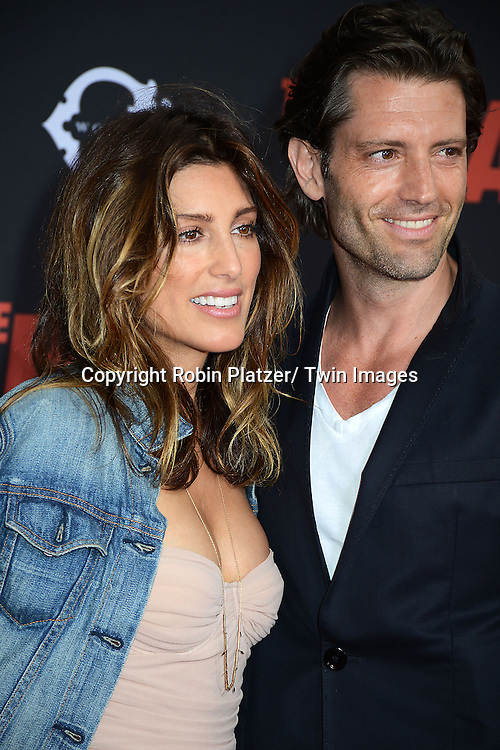 """Jennifer Esposito and Louis Dowler attend the New York Premiere of """"The Heat"""" on June 23,2013 at the Ziegfeld Theatre in New York City. The movie stars Sandra Bullock, Melissa McCarthy, Demian Bichir, Marlon Wayans, Joey McIntyre, Jessica Chaffin, Jamie Denbo, Nate Corddry, Steve Bannos, Spoken Reasons and Adam Ray."""