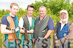 Members of the Listowel Gun Club at the Knocknagoshel shooting grounds on Saturday l-r: Kevin Halpin, John Walsh, Buck Loughlin and Bob Downey.