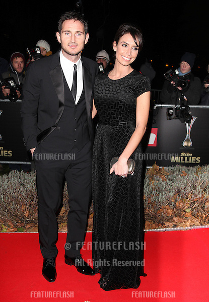 Frank Lampard and Christine Bleakley arriving for The Sun Military Awards, at The Imperial War Museum, London. 06/12/2012 Picture by: Alexandra Glen / Featureflash